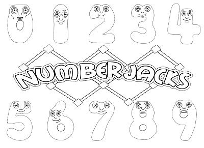 Numberjacks Coloring Pages - Free Printable Coloring Pages